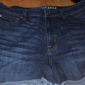 Pants - Dark denim shorts